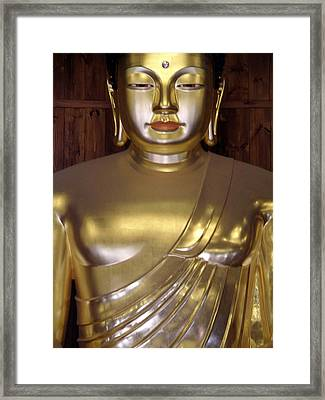 Jogyesa Buddha Framed Print by Jean Hall