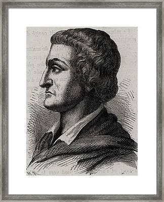 Johann Friedrich Bottger Framed Print by Universal History Archive/uig