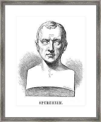 Johann Kaspar Spurzheim Framed Print by Granger