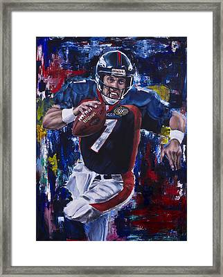 John Elway Framed Print by Mark Courage