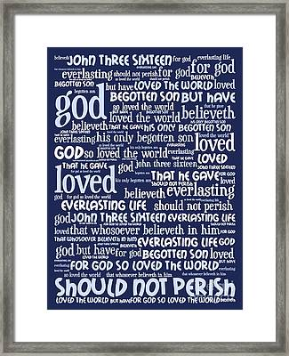 John 3-16 For God So Loved The World 20130622bwco80 Vertical Framed Print by Wingsdomain Art and Photography