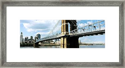 John A. Roebling Suspension Bridge Framed Print by Panoramic Images