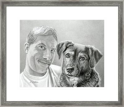 John And Howie Framed Print by Sarah Batalka