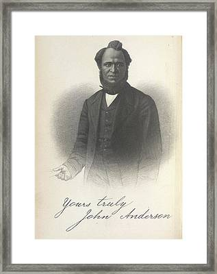 John Anderson Framed Print by British Library