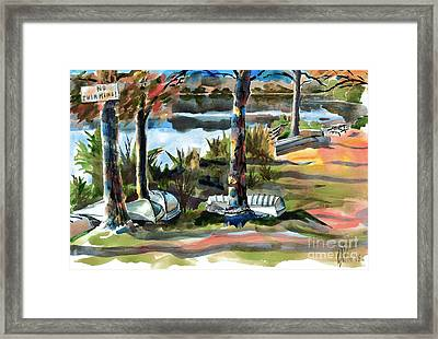 John Boats And Row Boats Framed Print by Kip DeVore