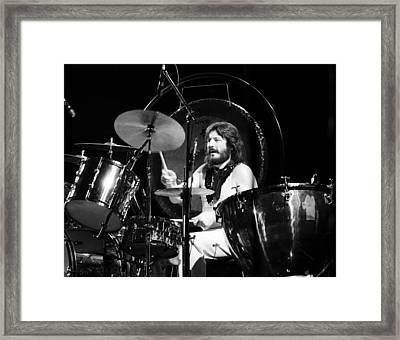 John Bonham 1977 Led Zeppelin Framed Print by Chris Walter