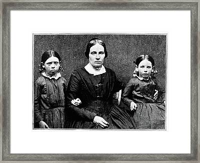 John Brown Family, C1851 Framed Print by Granger
