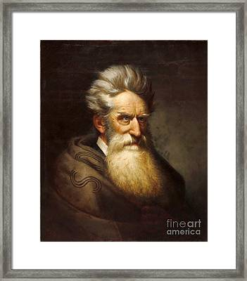 John Brown - Raising Holy Hell  Framed Print by Pg Reproductions