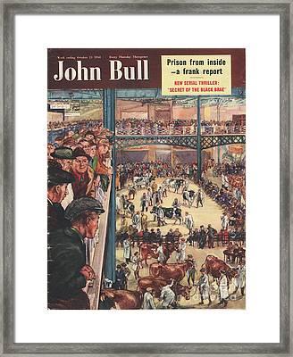 John Bull 1950 1950s Uk Smithfield Framed Print by The Advertising Archives