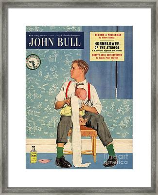 John Bull 1950s Uk Babies Fathers Framed Print by The Advertising Archives