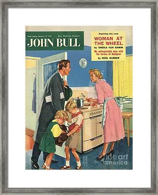 John Bull 1957 1950s Uk Cooking Framed Print by The Advertising Archives