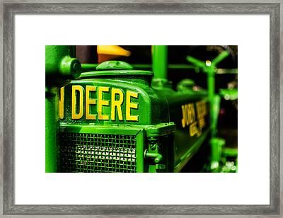 John Deere 1935 General Purpose Tractor Grill Detail Framed Print by Jon Woodhams