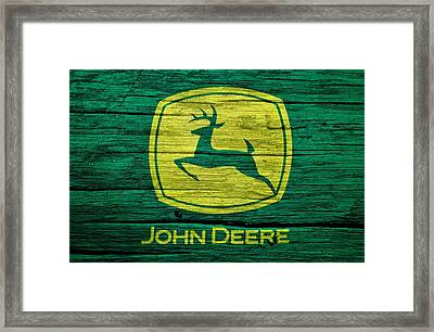 John Deere Barn Door Framed Print by Dan Sproul