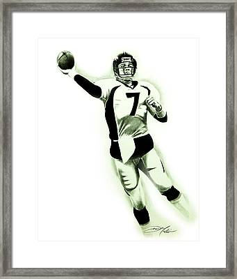 John Elway Framed Print by Don Medina