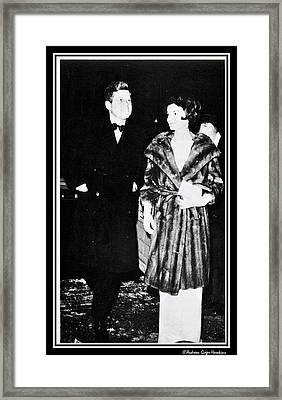 John F Kennedy And Jacqueline Attending First Dinner Framed Print by Audreen Gieger-Hawkins