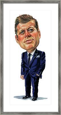 John F. Kennedy Framed Print by Art