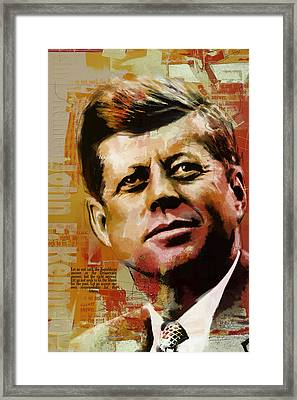 John F. Kennedy Framed Print by Corporate Art Task Force