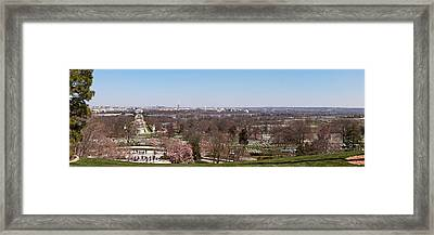 John F. Kennedy Gravestones Framed Print by Panoramic Images