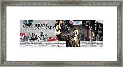 John F. Kennedy Timeline Panorama Framed Print by Retro Images Archive