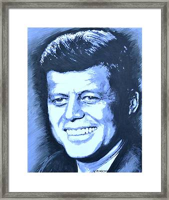 John F. Kennedy Framed Print by Victor Minca