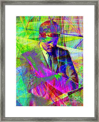 John Fitzgerald Kennedy Jfk In Abstract 20130610v2 Framed Print by Wingsdomain Art and Photography