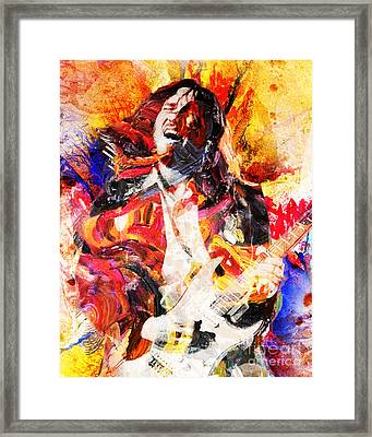 John Frusciante - Red Hot Chili Peppers Original Painting Print Framed Print by Ryan Rock Artist