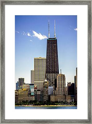 John Hancock Center Building In Chicago Framed Print by Paul Velgos
