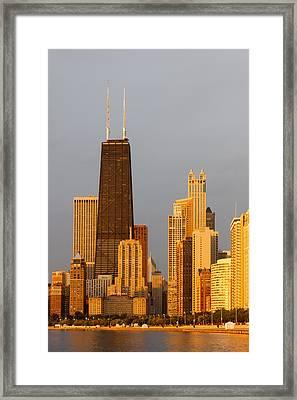 John Hancock Center Chicago Framed Print by Adam Romanowicz