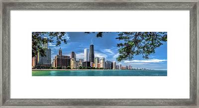 John Hancock Chicago Skyline Panorama Framed Print by Christopher Arndt