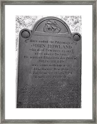 John Howland Framed Print by Janice Drew