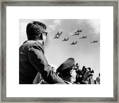 John Kennedy - Trip To Miami Week Before His Death. Nov 1963 Framed Print by Retro Images Archive