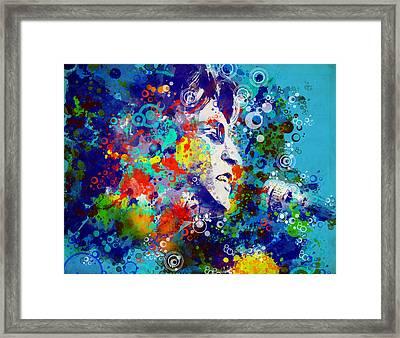 John Lennon 3 Framed Print by Bekim Art