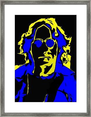 John Lennon Abstract  Framed Print by Stefan Kuhn