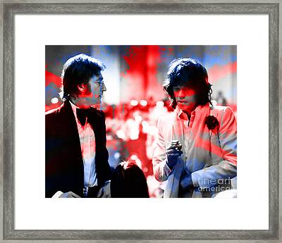 John Lennon And Mick Jagger Painting Framed Print by Marvin Blaine