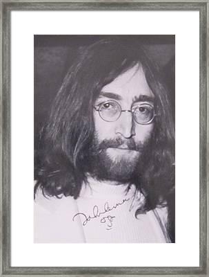 John Lennon Framed Print by Donna Wilson
