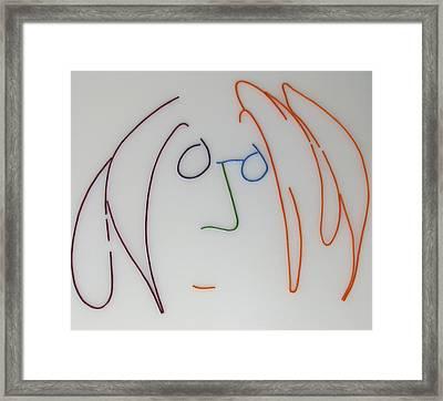 John Lennon Imagine By Peter Virgancz Framed Print by Peter Virgancz