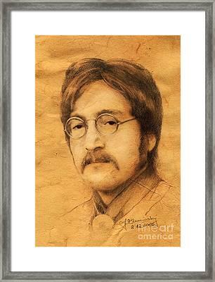 John Lennon Framed Print by Jaroslaw Blaminsky