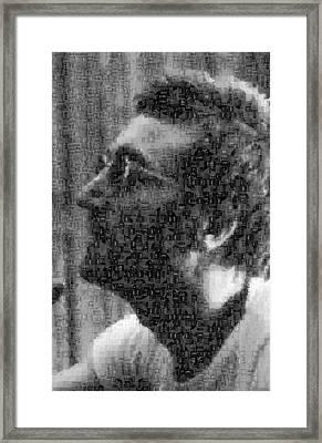 John Lennon Mosaic Image 12 Framed Print by Steve Kearns