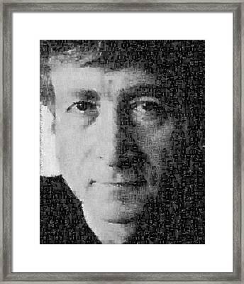 John Lennon Mosaic Image 15 Framed Print by Steve Kearns