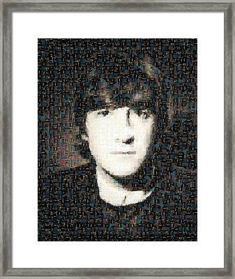 John Lennon Mosaic Image 3 Framed Print by Steve Kearns