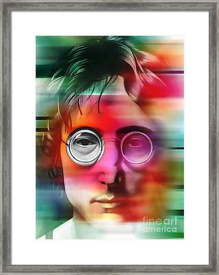 John Lennon Painting Framed Print by Marvin Blaine