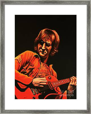 John Lennon Painting Framed Print by Paul Meijering