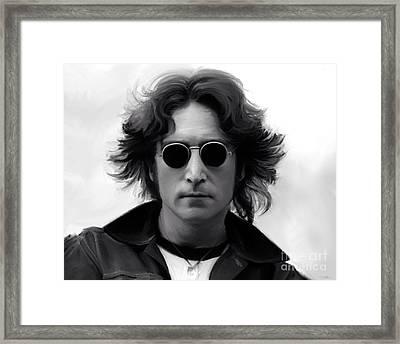 John Lennon Framed Print by Paul Tagliamonte