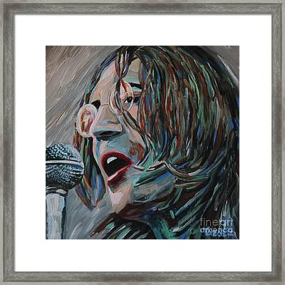 John Lennon Portrait Framed Print by Robert Yaeger