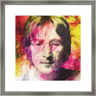 John Lennon Framed Print by Taylan Apukovska
