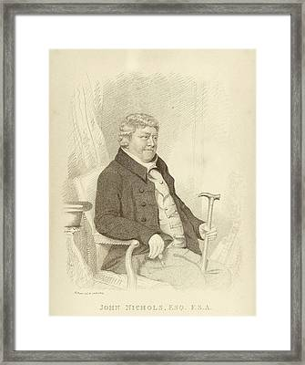 John Nichols Framed Print by Middle Temple Library