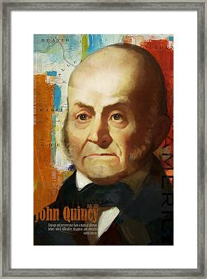 John Quincy Adams Framed Print by Corporate Art Task Force
