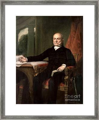 John Quincy Adams Framed Print by GPA Healy