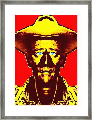 John Wayne Alias In Fort Apache Framed Print by Art Cinema Gallery