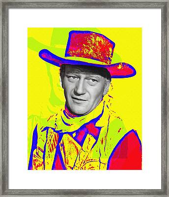 John Wayne In Red River Framed Print by Art Cinema Gallery